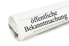 Bekanntmachung © Marco2811 - Fotolia