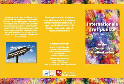 Flyer Internationale Treffpunkte